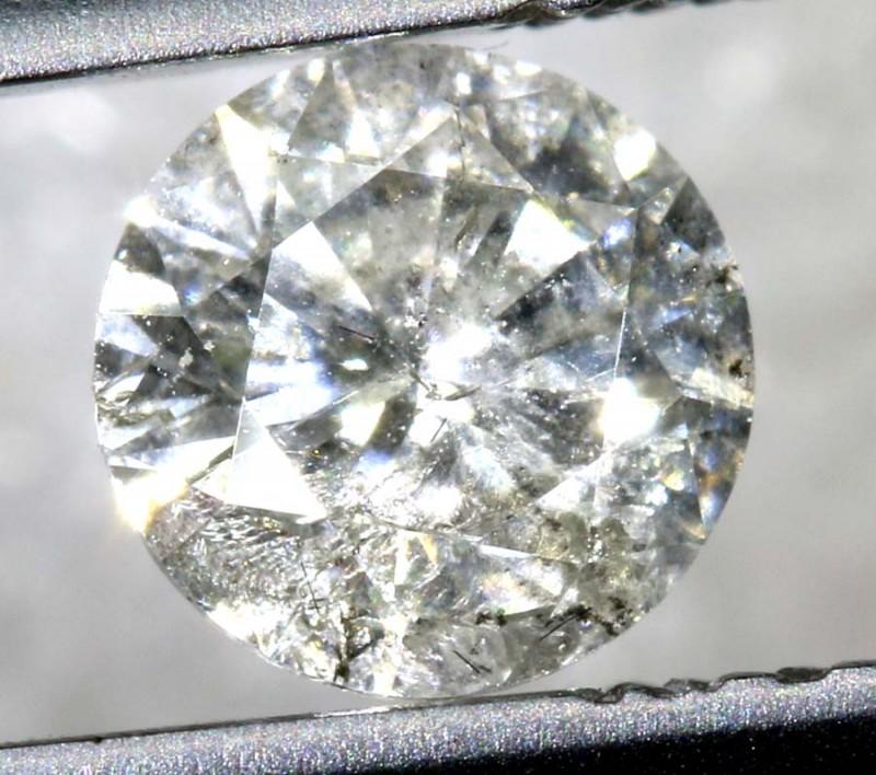 0.51 CTS WHITE DIAMOND FACETED SD- KOA-9