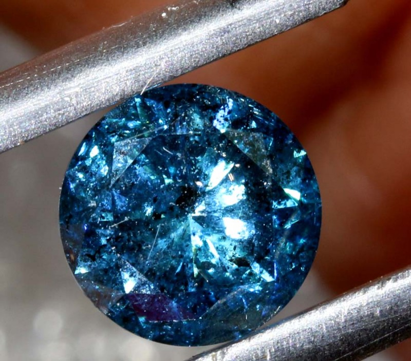 Certified 1 010 Cts Blue Diamond Cabochon Crystal