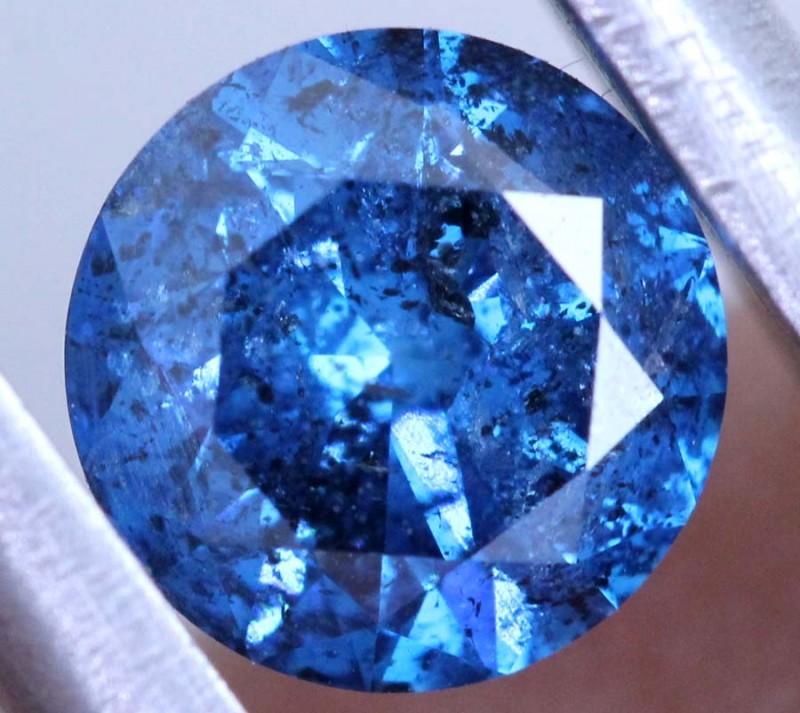 1.01 CTS BLUE DIAMOND CABOCHON CRYSTAL SD- KOA-33