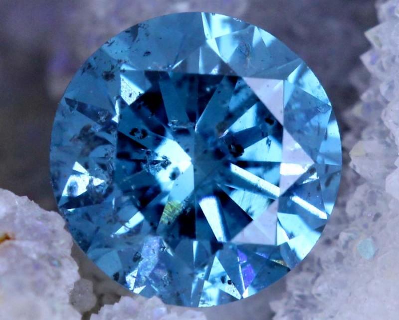 0.85 CTS BLUE DIAMOND CABOCHON CRYSTAL SD- KOA-37