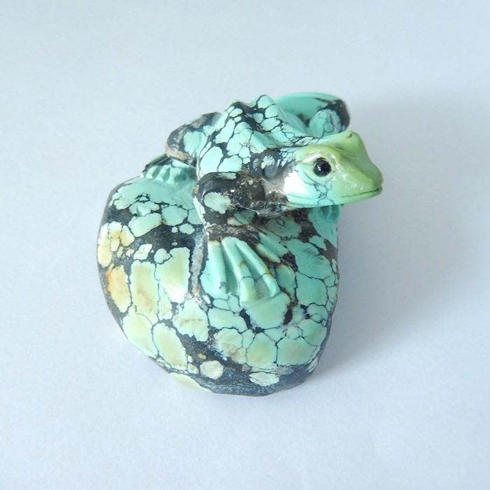 High Quality Turquoise,Handcarved Vivid Lovely Frog On The Stone Cabochon,G