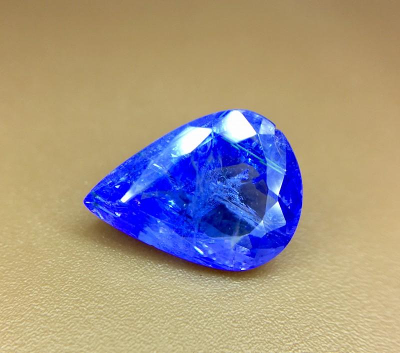 2.65 Crt Natural Tanzanite Top Color D-Block Faceted Gemstone