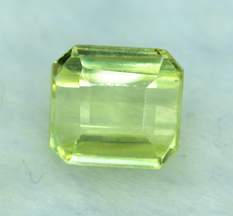 3.05 cts Emerald Cut Yellow Orthoclase Gemstone