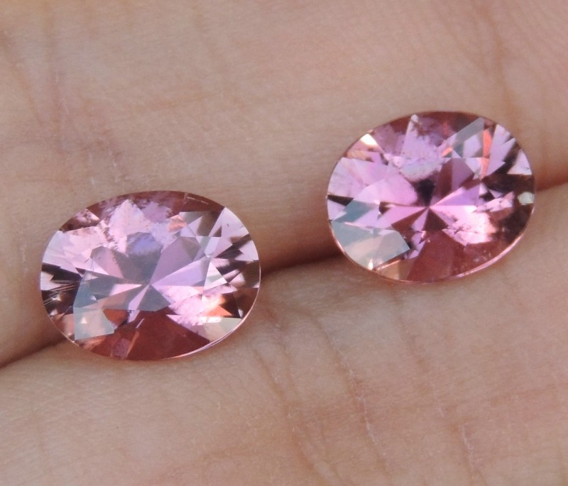 4.65cts, Pink Tourmaline, Untreated, Precision cut / Calibrated
