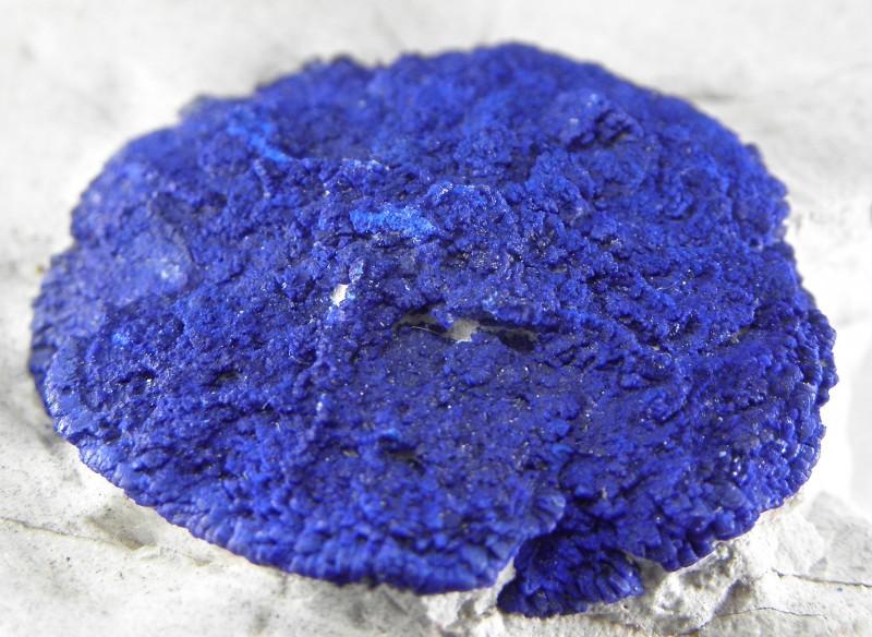 Very Rare Azurite in Kaolinite display specimen from Malbunka Copper Mine N