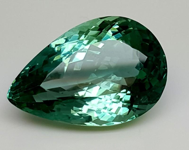23.70CrtTop Green Spodumene Best Faceted Gemstones GS38