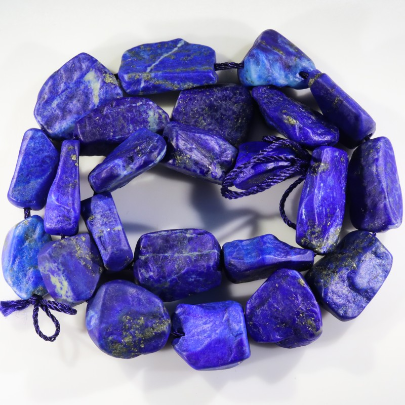 353.00 CTS NATURAL  LAPIS LAZULI BEADS STRANDS-A GRADE  -DRILLED  [STS958]