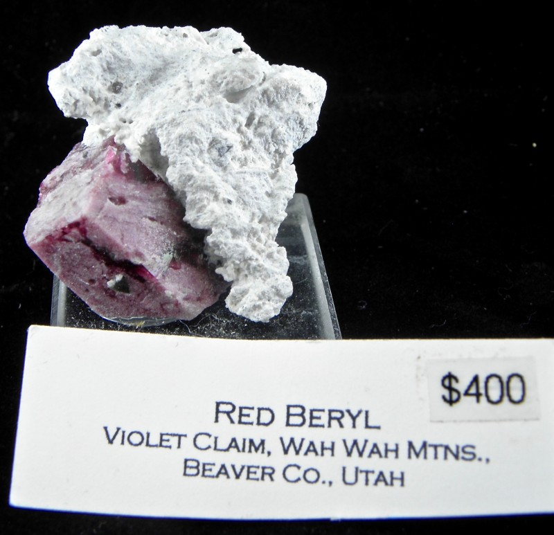 very rare Red Beryl  Ruby-Violet claims in the Wah Wah Mountains of Beaver