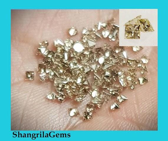 0.25ct 8 Princess cut Champagne diamonds approx 0.031ct each