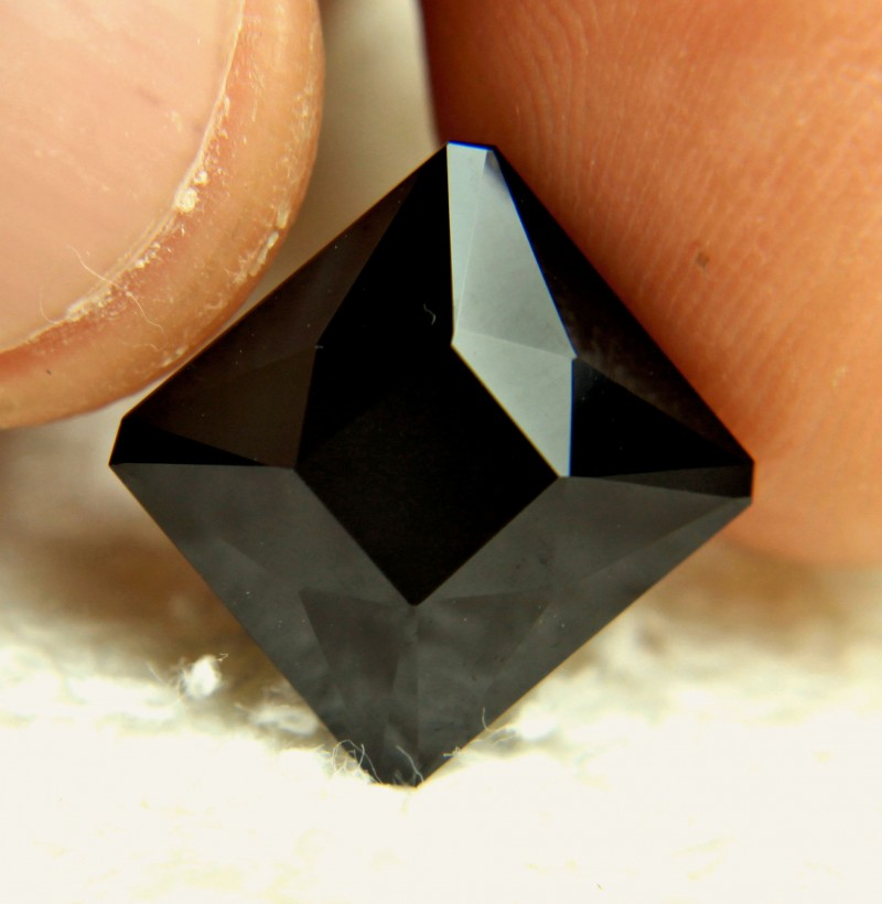 CERTIFIED - 14.59 Carat Darkest Green Tourmaline - Gorgeous