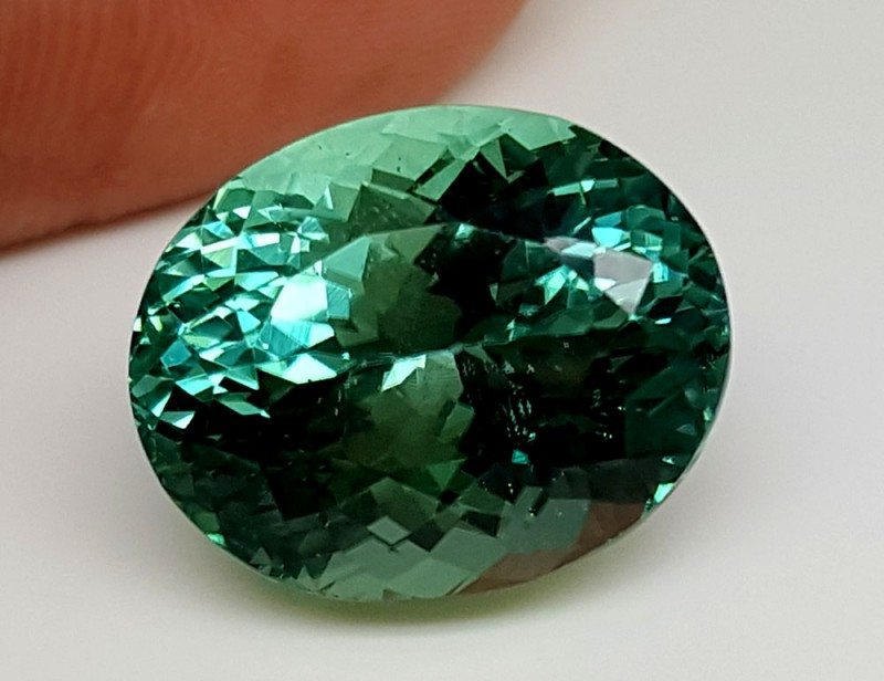 20.65Crt Top Green Spodumene Best Faceted Gemstones GS20