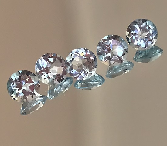 SUPERB PARCEL OF 6 JEWELLERY GRADE TOPAZ GEMS 4.00MM