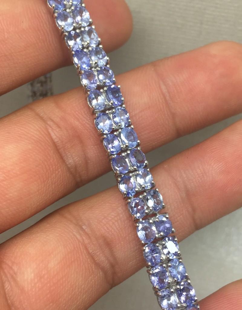 (B3) Gorgeous Nat 20tcw. Top Rich Tanzanite Bracelet