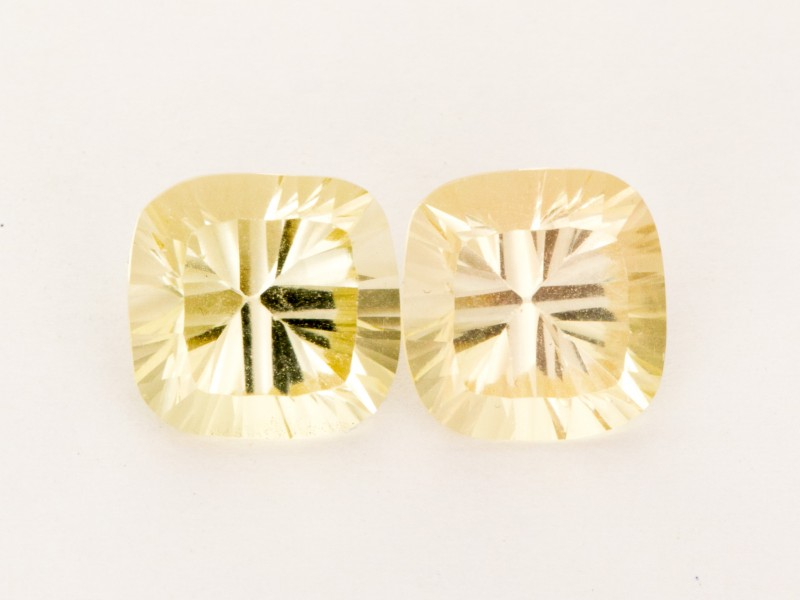 6.35ct Total Weight Champagne Square Cushion Sunstone Pair (S2513)
