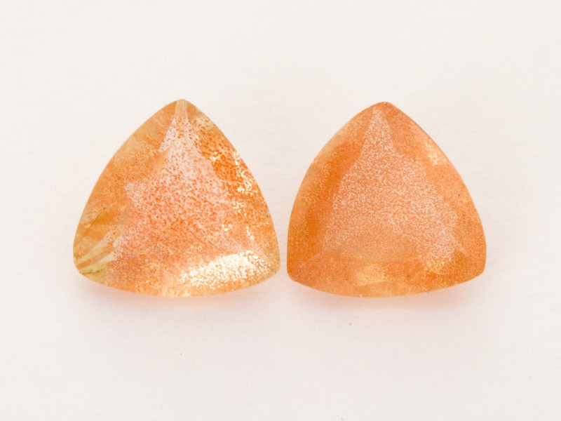 3.85ct Total Weight Peach Triangle Sunstone Pair (S2515)