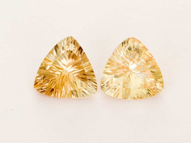 4.20ct Total Weight Champagne Triangle Sunstone Pair (S2022)