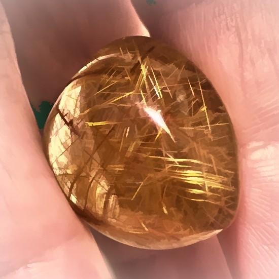 41.37ct Rich Golden Needle Rutile Quartz No Reserve Auction