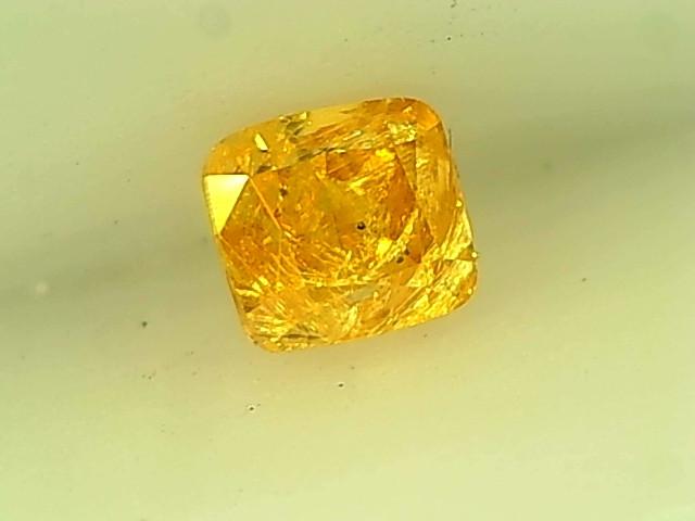 0.17ct Fancy Intense Orangish Yellow Diamond , 100% Natural Untreated