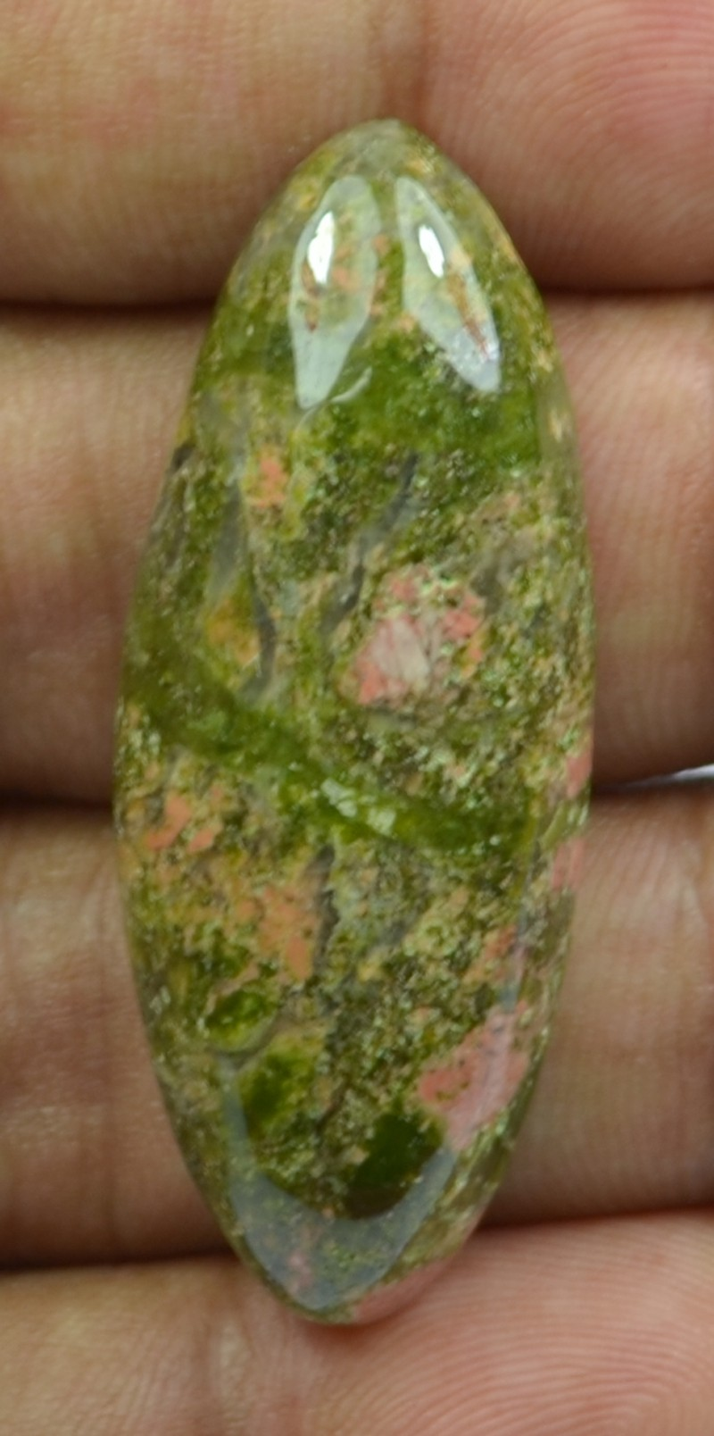 an background cutout of gemstone on white stock unakite photo
