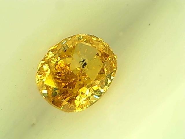 0.16cts  Fancy Vivid Orangish Yellow Diamond , 100% Natural Untreated