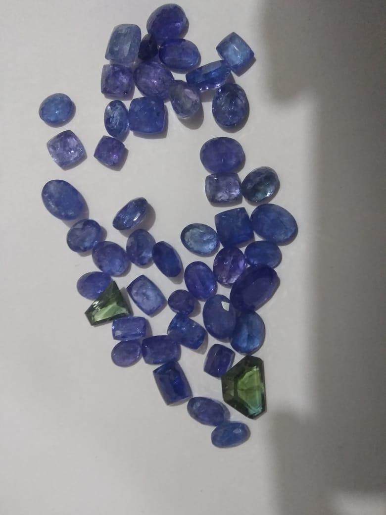 215ct Tanzanite Parcel , 100% Natural Gemstone