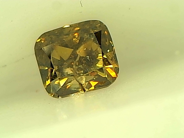 0.23cts Fancy Deep Brownish Green Diamond , 100%  Natural Untreated