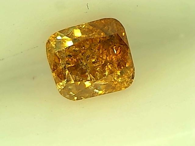 0.26cts Fancy Intense Orange Yellow Diamond , 100% Natural Untreated