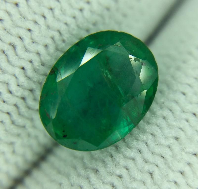 1.70 Ct Natural Zambian Emerald Good Luster Gemstone Ed4