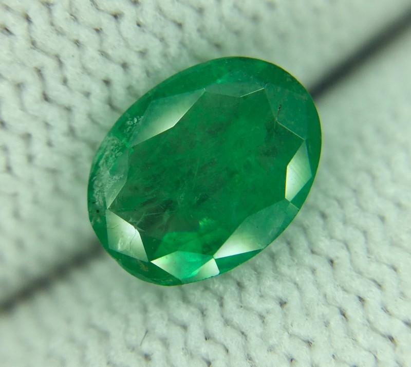 1.21 Ct Natural Zambian Emerald Good Luster Gemstone Ed8
