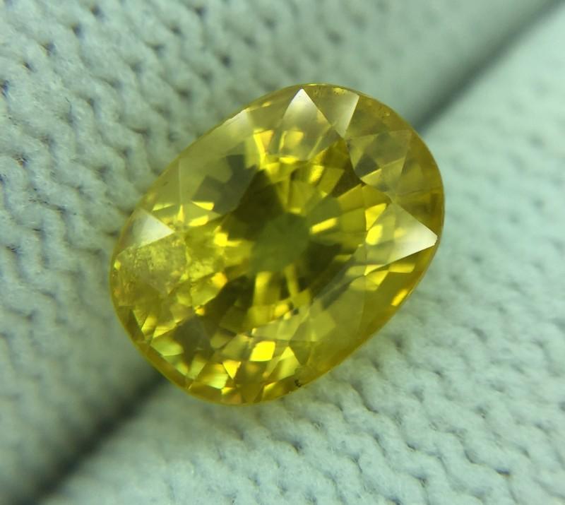 2.40 Ct Natural Yellow Sapphire Good Luster Gemstone Ys02