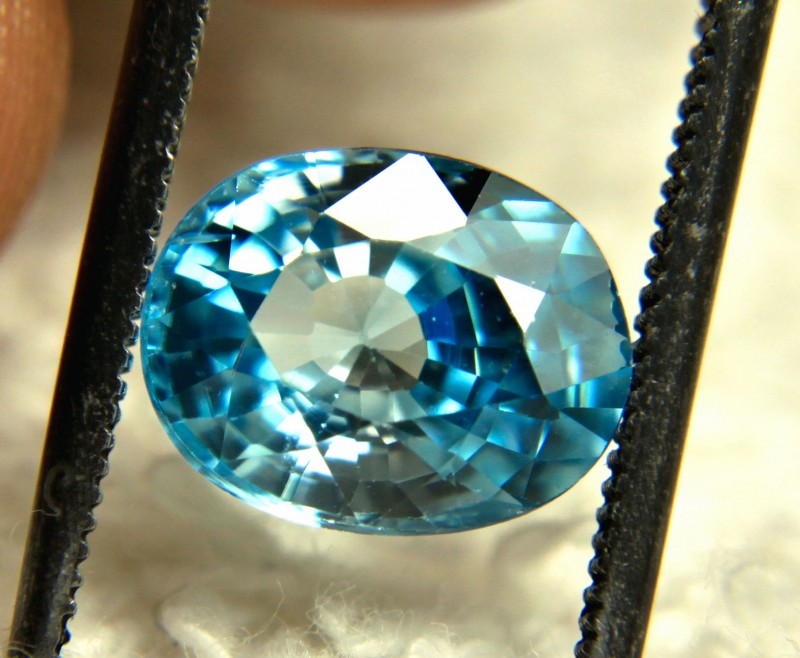 3.16 Carat Blue Southeast Asian Zircon - Gorgeous