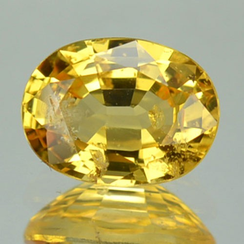 CERTIFIED 1.25 Cts Natural Corundum Yellow Sapphire Oval