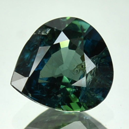 UNHEATED 0.98 Cts Natural Blue Green Sapphire Pear Africa