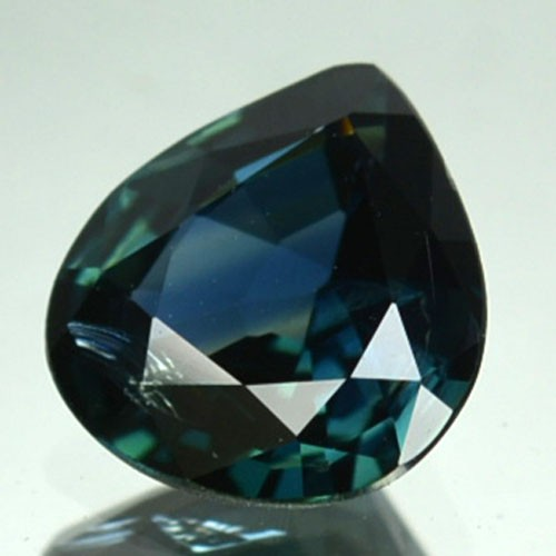 UNHEATED 1.21 Cts Natural Corundum Blue Sapphire Pear Africa
