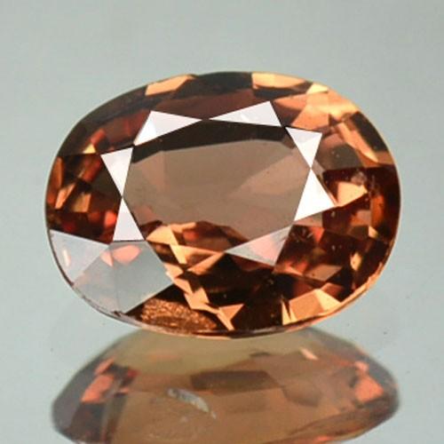 0.86 Cts Natural Corundum Orange Sapphire Oval Africa