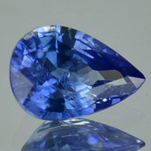 0.70 Cts Natural Corundum Blue Sapphire pear Africa