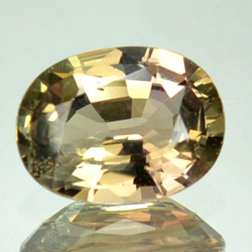 0.91 Cts Natural Corundum Bi Color Sapphire Oval Africa