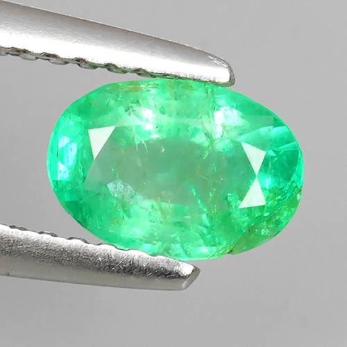 """IMPRESSIVE OVAL BEST COLLECTION OF NATURAL COLOMBIAN EMERALD """""""
