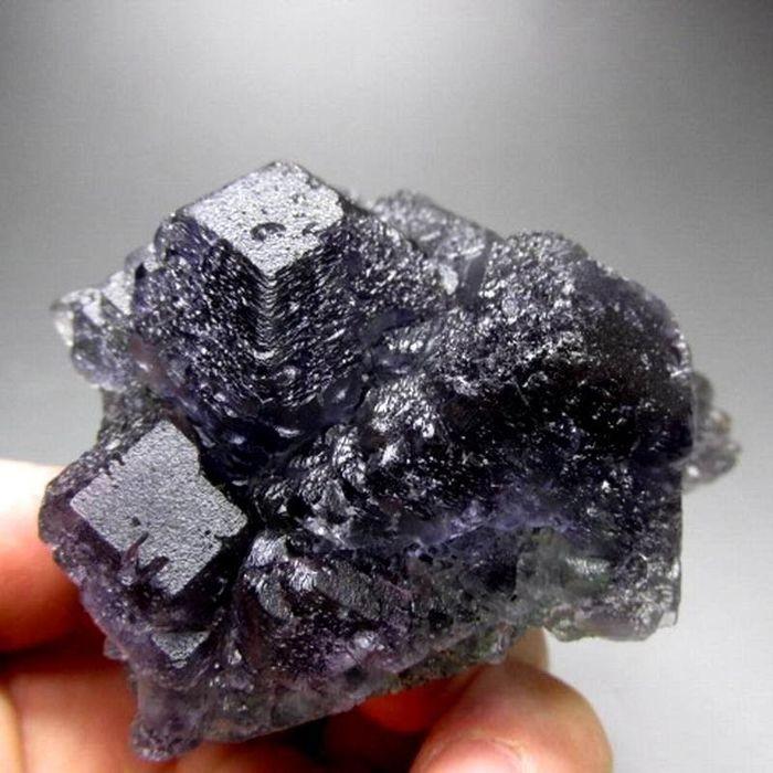 Purple and green fluorite - 445 grams - China