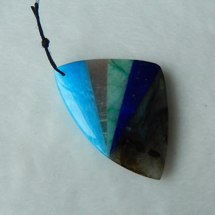 54.5ct Natural Blue Jasper, Sun Stone, Amazonite,Lapis Lazuli and Labradori
