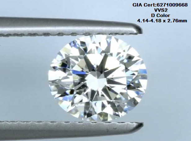 0.3ct D COLOR  GIA certified White Diamond