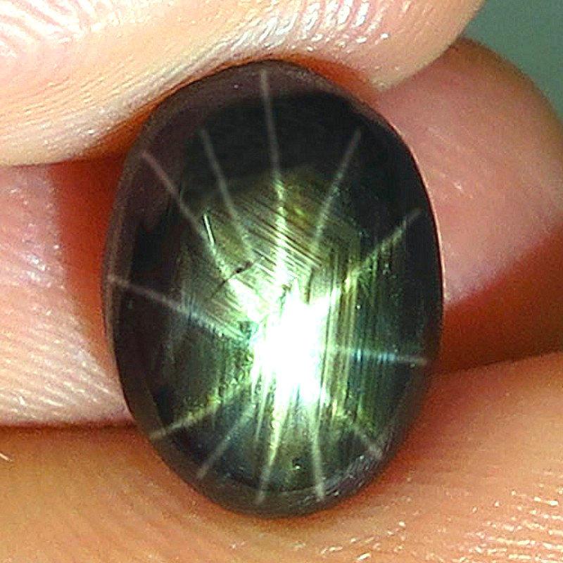 6.20 Carat Thailand Black Star Sapphire - 12 Rays - Gorgeous