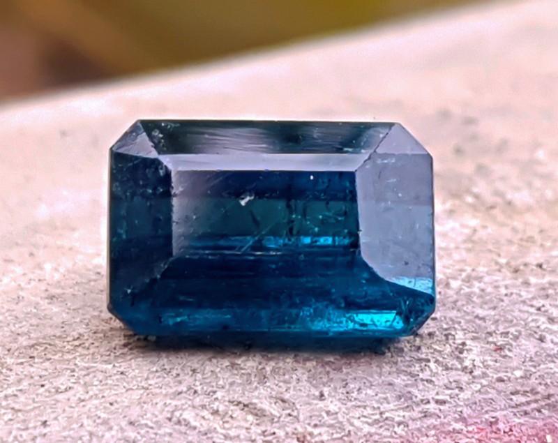 2.5 Cts Dark Blue Tourmaline Cut Stone @ Afghanistan