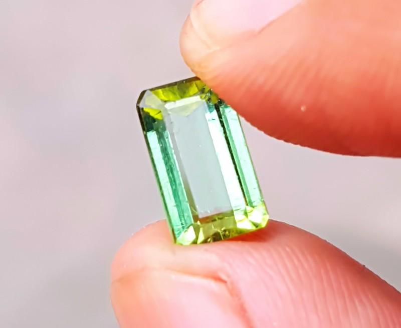 2.5 Cts Natural IF Greenish Yellow Tourmaline Gemstone