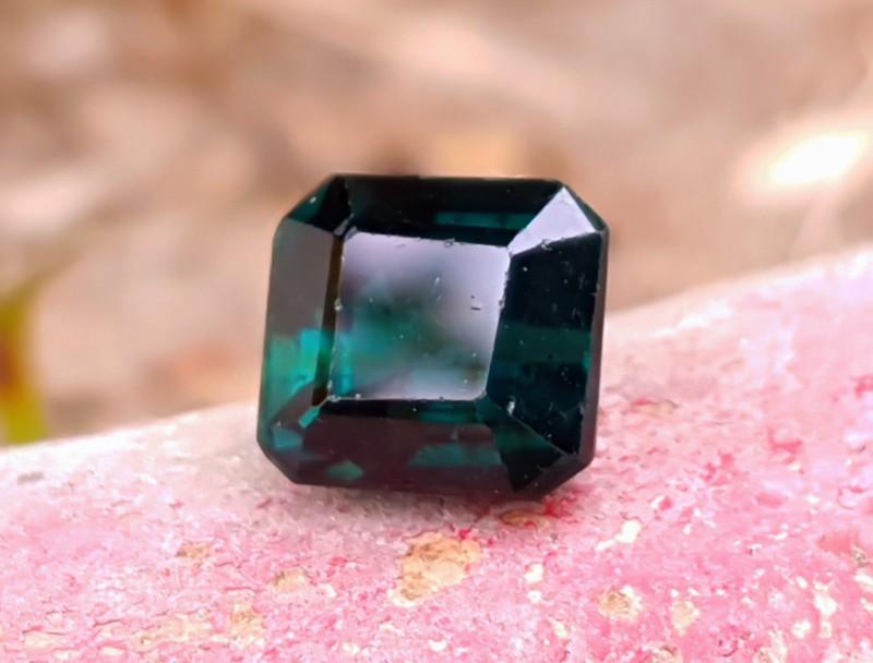 3 Carats Dark Greenish Blue Tourmaline Cut Stone