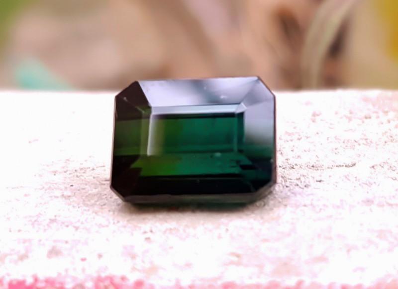3.00 Cts dark Greenish Blue Tourmaline Loose Gem