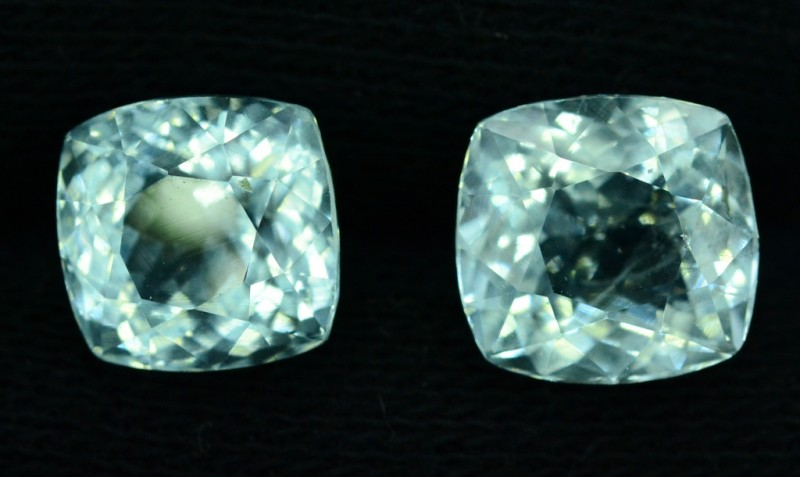 12.35 cts Untreated Aquamarine Gemstones Pair from Pakistan