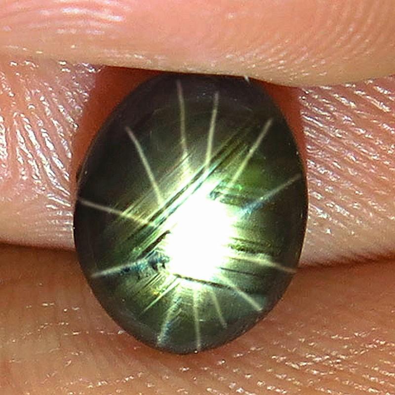 3.67 Carat Thailand Black Star Sapphire 12 Rays - Gorgeous