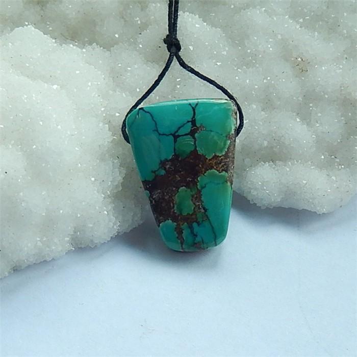 26ct Natural Beatiful Turquoise Gemstone Pendant  Bead (18030809)