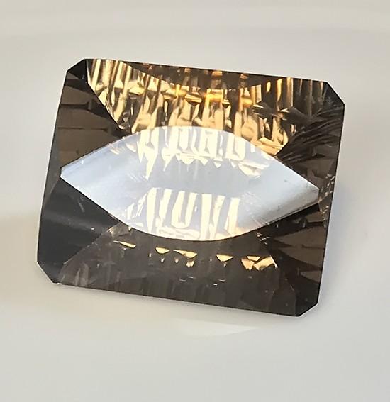 36.15ct Rare Cut Smoky Quartz Custom USA gem (natural) VVS
